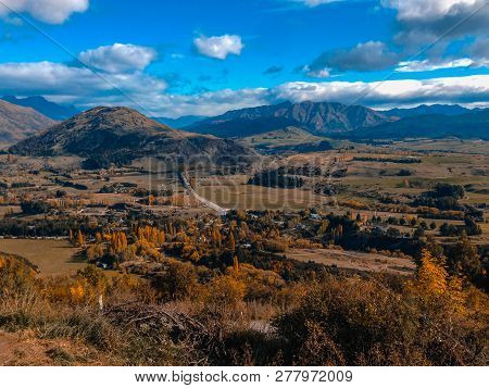 View Over Arrowtown In New Zealand, South Island