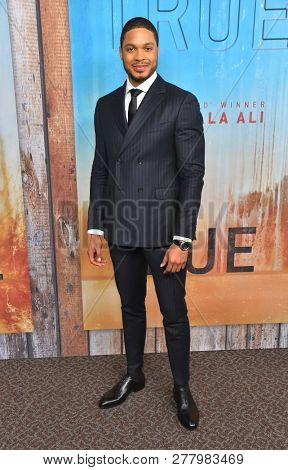 LOS ANGELES - JAN 10:  Ray Fisher arrives to HBO's 'True Detective' Season 3 Premiere  on January 10, 2019 in Hollywood, CA
