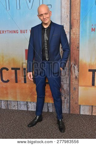 LOS ANGELES - JAN 10:  Anthony Carrigan arrives to HBO's 'True Detective' Season 3 Premiere  on January 10, 2019 in Hollywood, CA