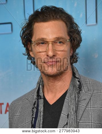 LOS ANGELES - JAN 10:  Matthew McConaughey arrives to HBO's 'True Detective' Season 3 Premiere  on January 10, 2019 in Hollywood, CA