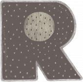 Letter R. Colorful doodle alphabet. Kids handwritten doodles font or childlike pencil scratch letters illustration. Handmade paint grunge color letters. Child bright ABC. poster