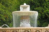 Wittelsbach Fountain on Maximiliansplatz Munich in Germany poster
