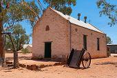 Old Lutheran church in Hermannsburg Historic Precinct in Western Aranda Northern Territory Central Australia poster