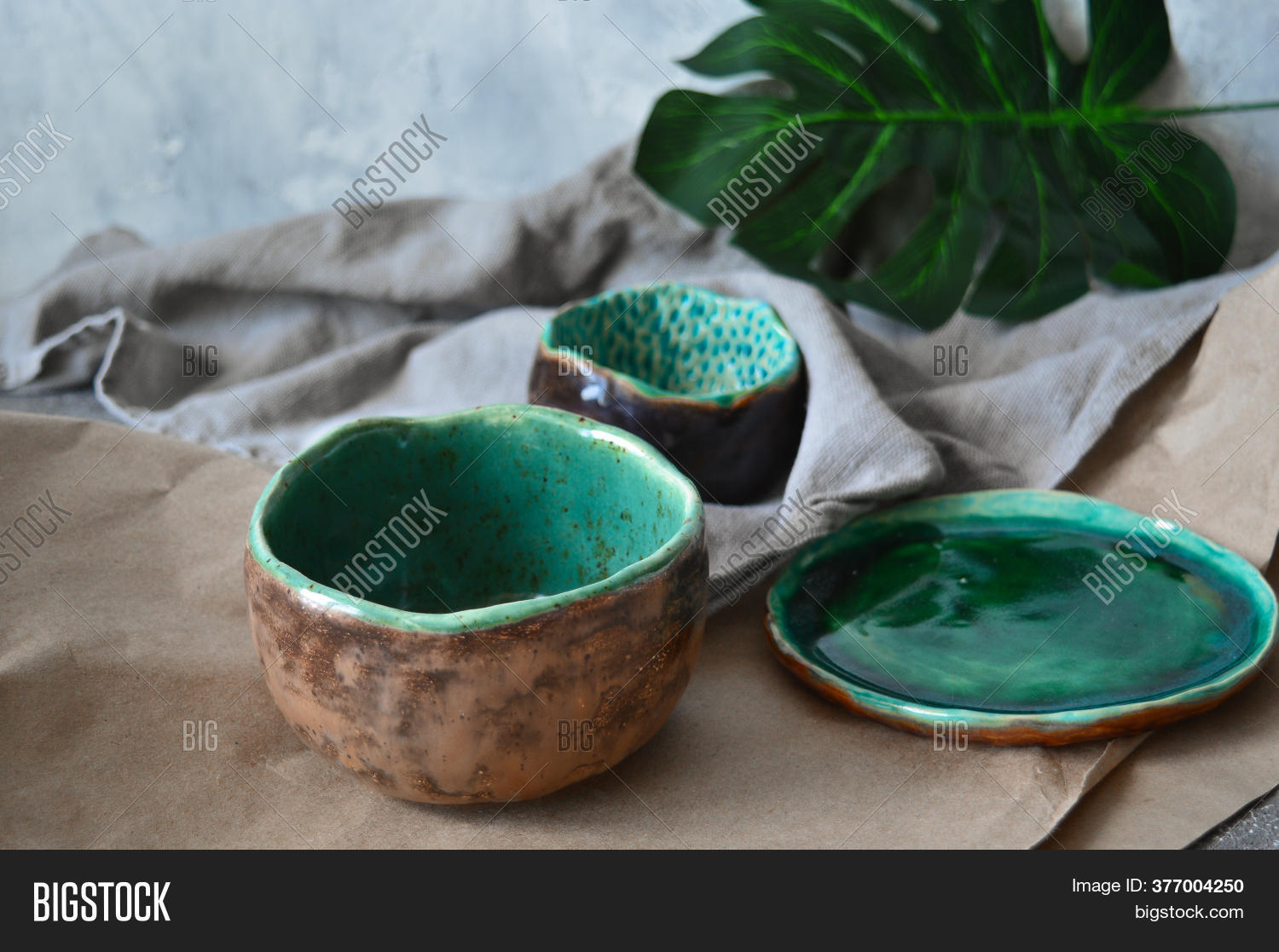 Clay Plates Handmade Image Photo Free Trial Bigstock