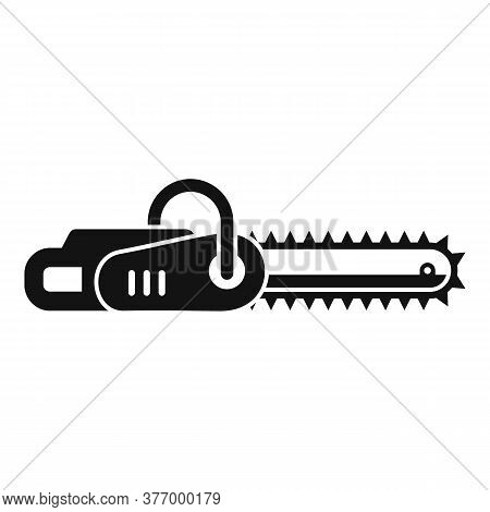 Handle Chainsaw Icon. Simple Illustration Of Handle Chainsaw Vector Icon For Web Design Isolated On