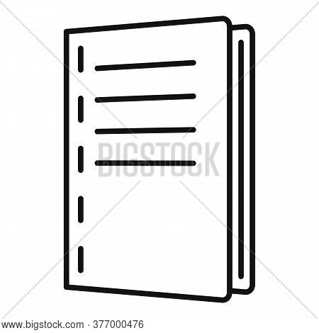 Catalogue Polygraphy Icon. Outline Catalogue Polygraphy Vector Icon For Web Design Isolated On White