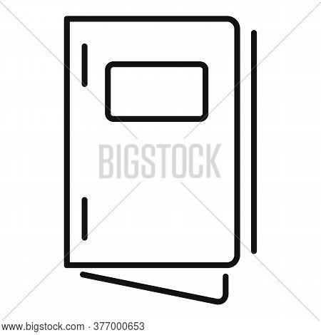 Design Catalog Icon. Outline Design Catalog Vector Icon For Web Design Isolated On White Background