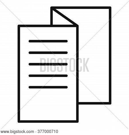 Textbook Catalog Icon. Outline Textbook Catalog Vector Icon For Web Design Isolated On White Backgro