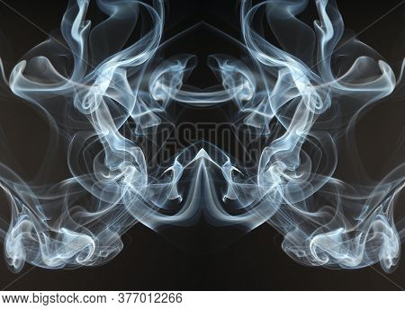 Beautiful Smoke With Unique Pattern Or Smoke Effect