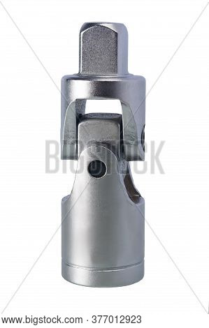 Adapter For Wrench And Head For Loosening Nuts, Isolated On White Background, Side View