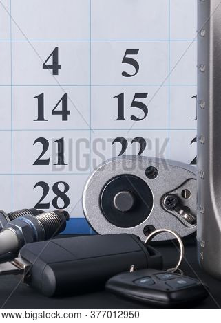 Calendar For Recording On Car Maintenance And Consumables For It, Background