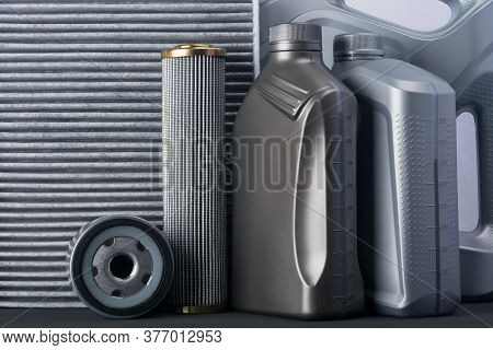 Gray Concept Of Things For Car Maintenance