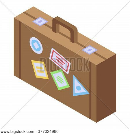 Hitchhiking Suitcase Icon. Isometric Of Hitchhiking Suitcase Vector Icon For Web Design Isolated On