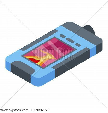 Thermal Imager Device Icon. Isometric Of Thermal Imager Device Vector Icon For Web Design Isolated O