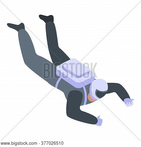 Skydiving Icon. Isometric Of Skydiving Vector Icon For Web Design Isolated On White Background