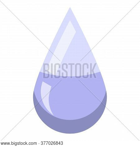 Antiseptic Drop Icon. Isometric Of Antiseptic Drop Vector Icon For Web Design Isolated On White Back
