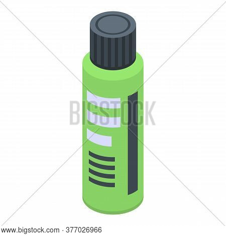 Green Antiseptic Icon. Isometric Of Green Antiseptic Vector Icon For Web Design Isolated On White Ba