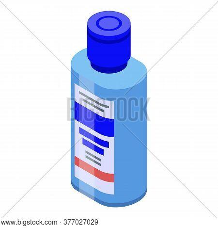 Gel Antiseptic Bottle Icon. Isometric Of Gel Antiseptic Bottle Vector Icon For Web Design Isolated O