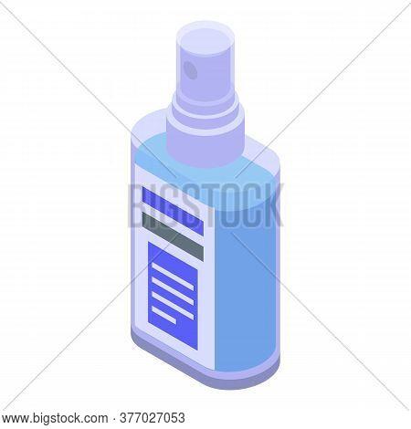 Aerosol Antiseptic Spray Icon. Isometric Of Aerosol Antiseptic Spray Vector Icon For Web Design Isol
