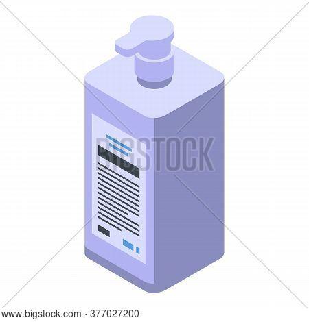 Antibacterial Antiseptic Dispenser Icon. Isometric Of Antibacterial Antiseptic Dispenser Vector Icon