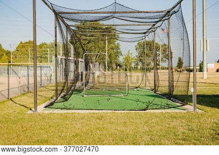 Warm Up Area For Pitchers Right Next To The Baseball Diamond