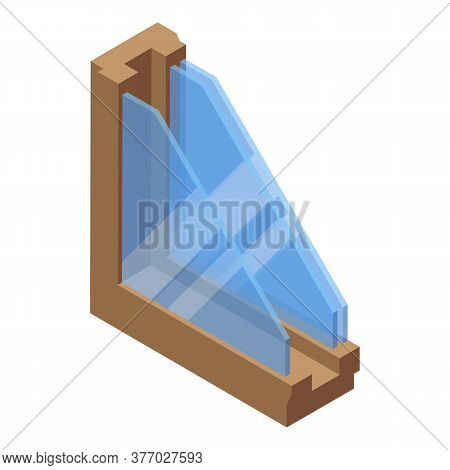 Window Section Isolation Icon. Isometric Of Window Section Isolation Vector Icon For Web Design Isol