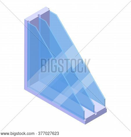 Window Profile Icon. Isometric Of Window Profile Vector Icon For Web Design Isolated On White Backgr