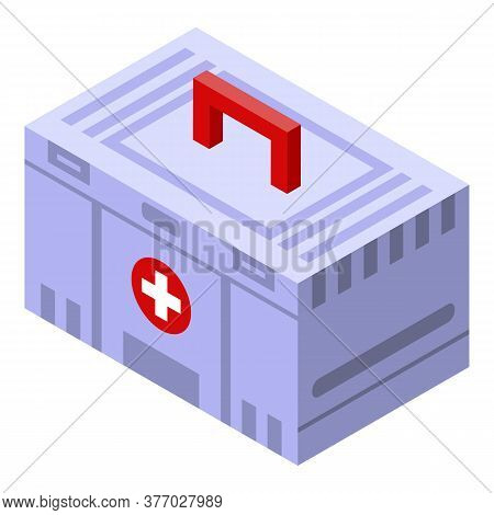 Sport Doctor First Aid Kit Icon. Isometric Of Sport Doctor First Aid Kit Vector Icon For Web Design