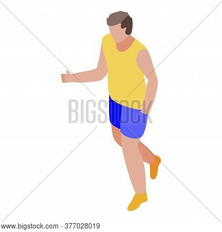 Running Icon. Isometric Of Running Vector Icon For Web Design Isolated On White Background