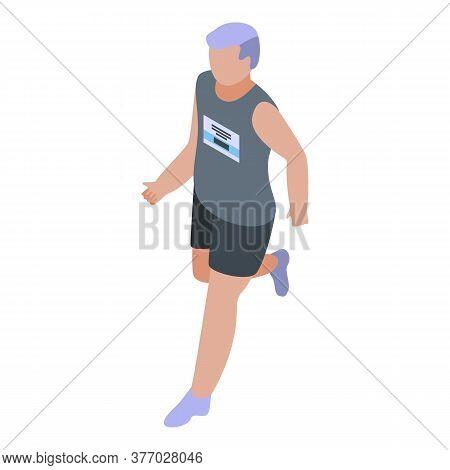 Marathon Running Icon. Isometric Of Marathon Running Vector Icon For Web Design Isolated On White Ba
