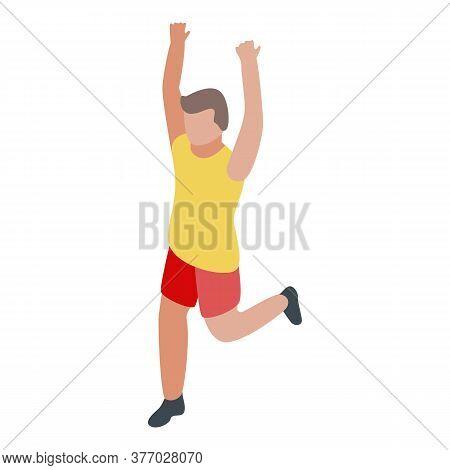 Winner Running Icon. Isometric Of Winner Running Vector Icon For Web Design Isolated On White Backgr