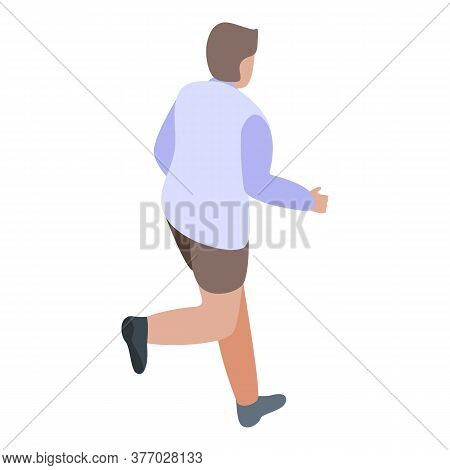 Boy Running Icon. Isometric Of Boy Running Vector Icon For Web Design Isolated On White Background