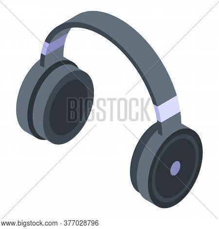 Wireless Headphones Icon. Isometric Of Wireless Headphones Vector Icon For Web Design Isolated On Wh