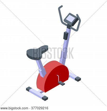 Cardio Exercise Bike Icon. Isometric Of Cardio Exercise Bike Vector Icon For Web Design Isolated On