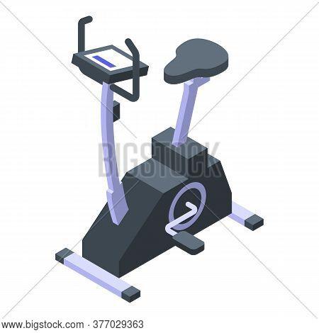 Stationary Exercise Bike Icon. Isometric Of Stationary Exercise Bike Vector Icon For Web Design Isol
