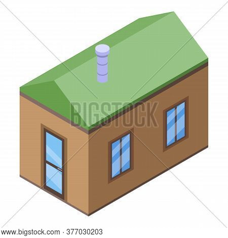 Sauna House Icon. Isometric Of Sauna House Vector Icon For Web Design Isolated On White Background
