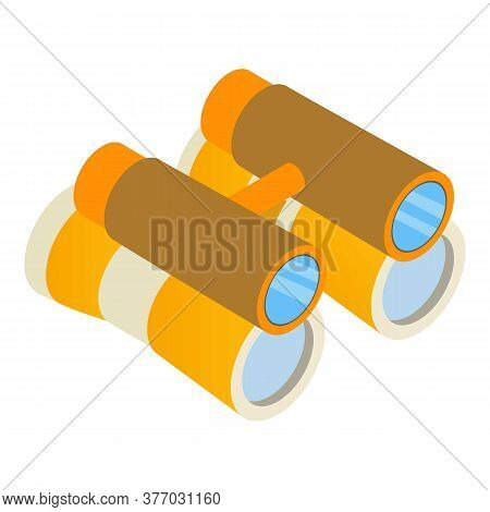 Theatre Binoculars Icon. Isometric Illustration Of Theatre Binoculars Vector Icon For Web