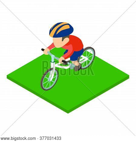 British Cyclist Icon. Isometric Illustration Of British Cyclist Vector Icon For Web