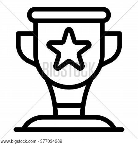 Running Star Cup Icon. Outline Running Star Cup Vector Icon For Web Design Isolated On White Backgro