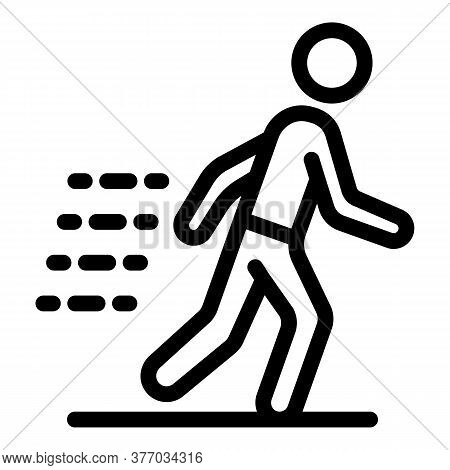 Running Boy Icon. Outline Running Boy Vector Icon For Web Design Isolated On White Background