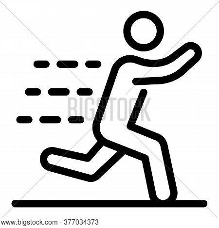 Running Marathon Icon. Outline Running Marathon Vector Icon For Web Design Isolated On White Backgro