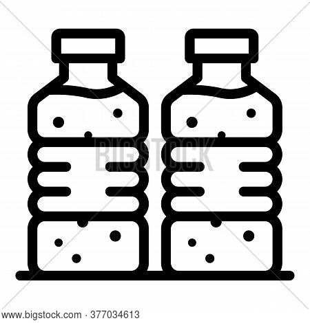 Mineral Water Bottle Icon. Outline Mineral Water Bottle Vector Icon For Web Design Isolated On White