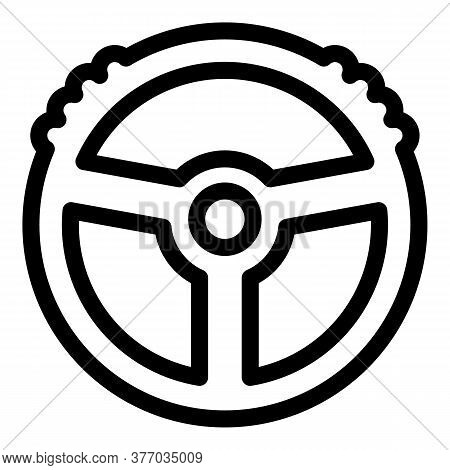 Computer Steering Wheel Icon. Outline Computer Steering Wheel Vector Icon For Web Design Isolated On