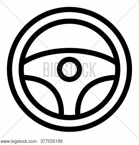 Drive Steering Wheel Icon. Outline Drive Steering Wheel Vector Icon For Web Design Isolated On White