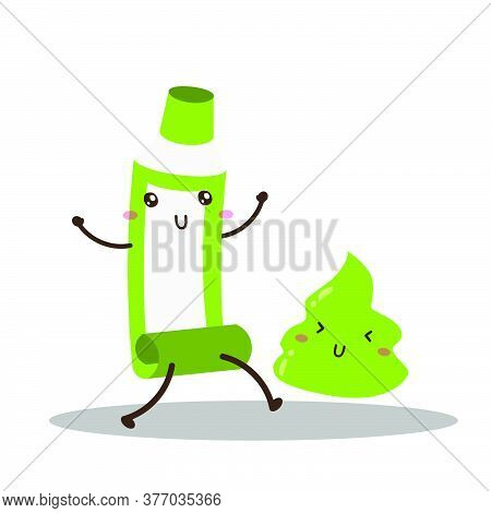 Cute Happy Wasabi Vector Design, Can Be Use To Make Poster
