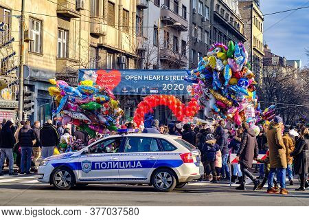 Belgrade / Serbia - January 1, 2020: Open Heart Street, An Annual Event Traditionally Held On The Ne