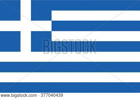 National Greek Flag, Official Colors And Proportion Correctly. National Greek Flag..greece  Flag Vec