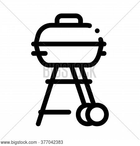 Bbq Cook Tool Icon Vector. Bbq Cook Tool Sign. Isolated Contour Symbol Illustration