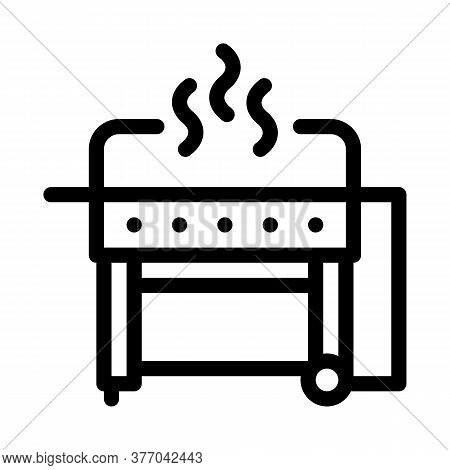 Bbq Professional Equipment Icon Vector. Bbq Professional Equipment Sign. Isolated Contour Symbol Ill