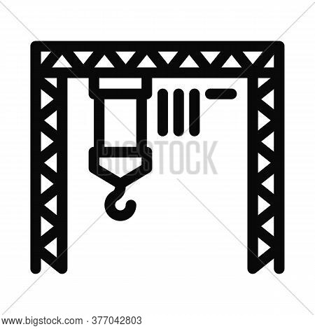 Industrial Crane Icon Vector. Industrial Crane Sign. Isolated Contour Symbol Illustration